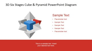 PowerPoint Diagram with Second Stage Pyramid Highlight