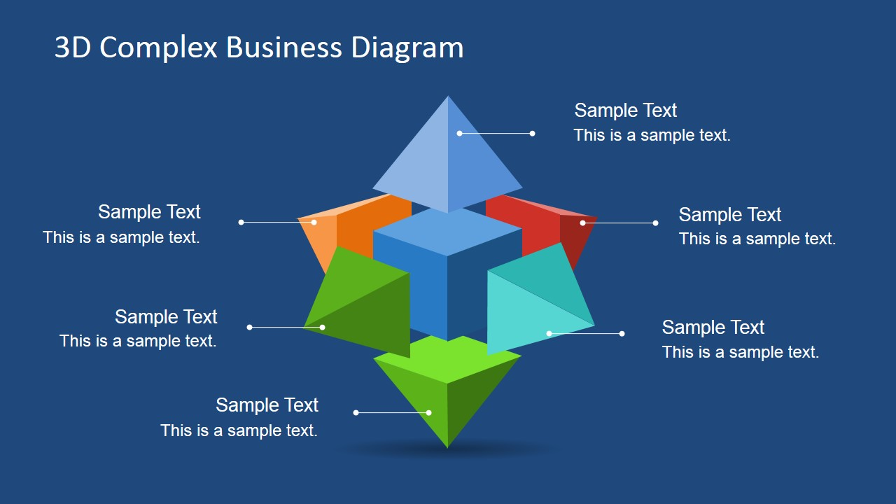 3D Complex Business Diagram for PowerPoint - SlideModel