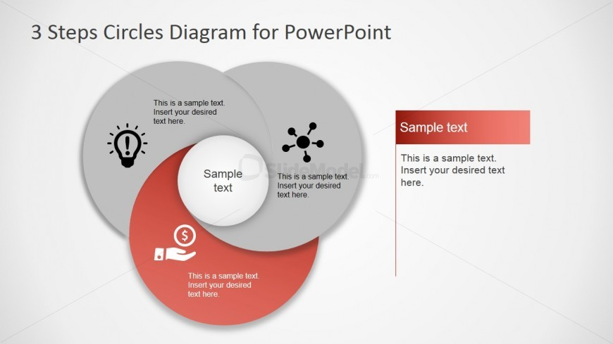 PowerPoint Circular Diagram Featuring Third Step