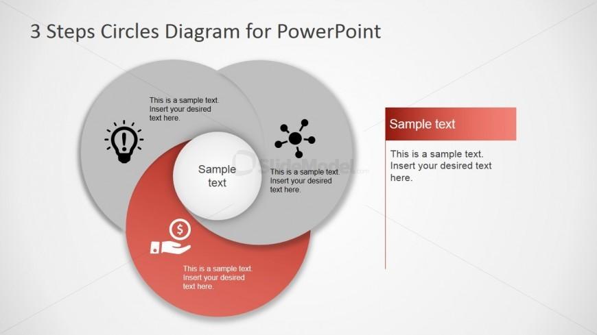 PowerPoint Circular Diagram Featuring Third Step