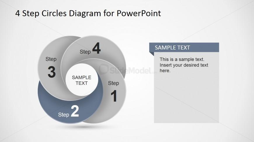 Second Step Circular Dynamic Diagram Slide