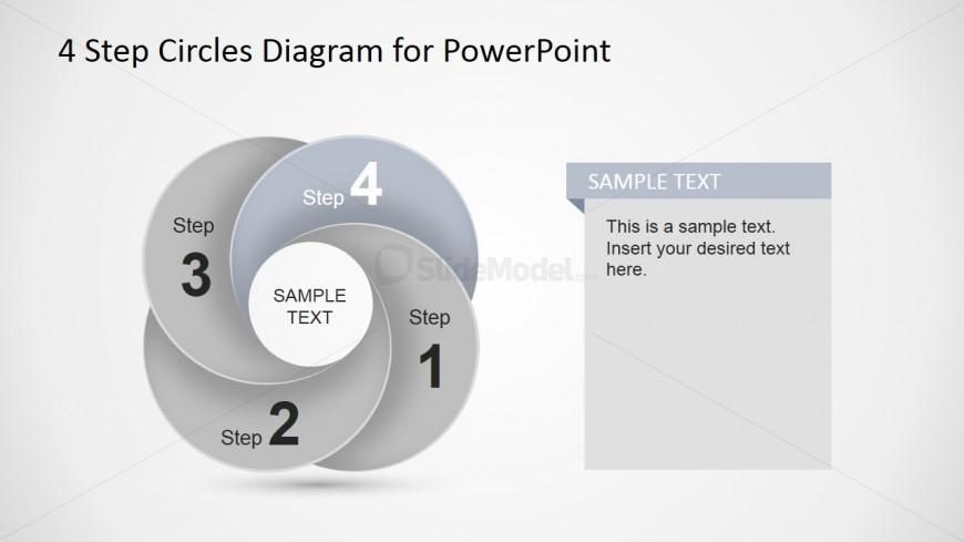 Fourth Step Circular Dynamic Diagram Slide