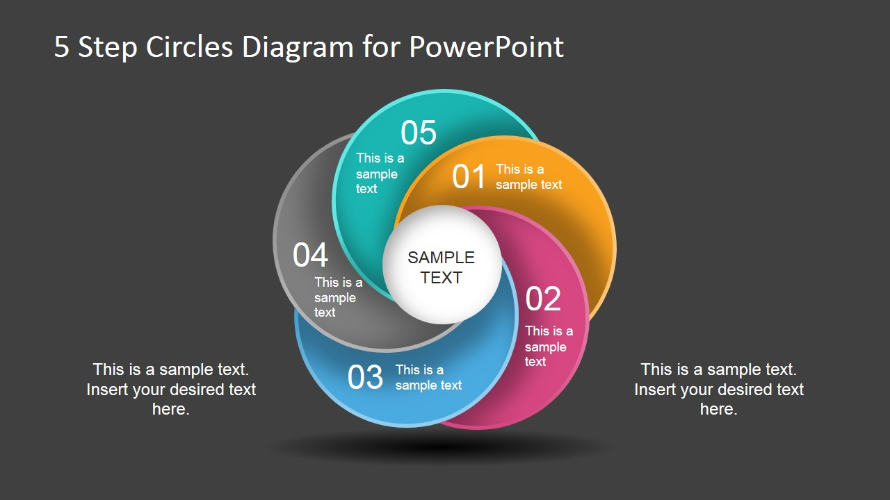 5 step circles diagram for powerpoint slidemodel ccuart Image collections
