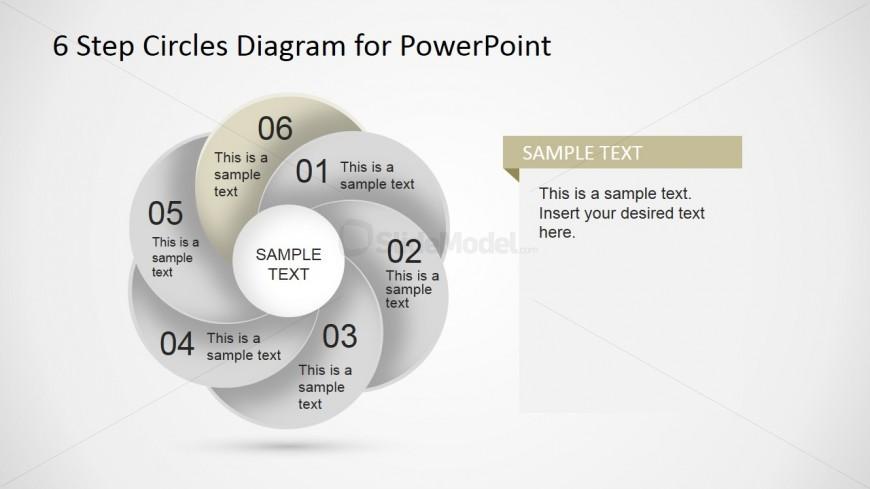 PowerPoint Circles forming a Circilar Petal Shape