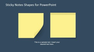 2 Sticky Note Shapes in a PowerPoint Slide