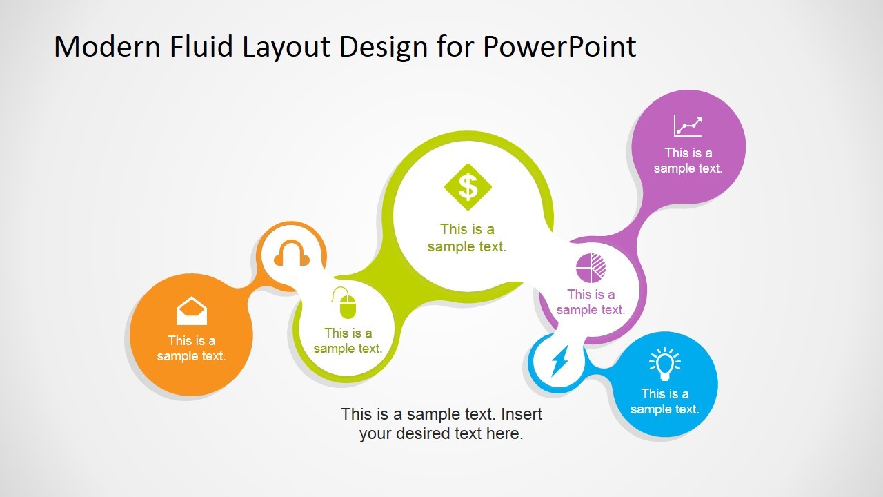 modern fluid layout design for powerpoint slidemodel