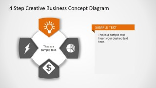 Creative Business Diagram - Light Icon