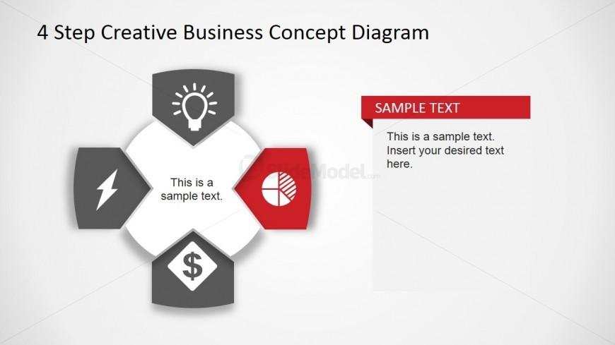 Creative Business Diagram - Pie Chart Icon