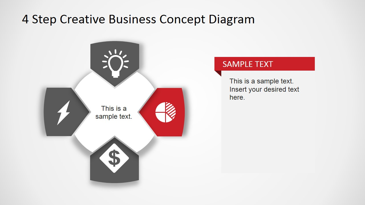 Creative Business Diagram - Pie Chart Icon