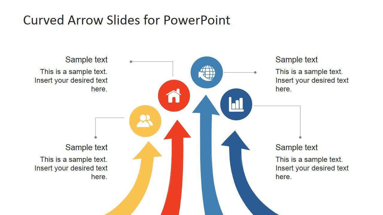 Curved arrows powerpoint template slidemodel curved arrows powerpoint template previous next toneelgroepblik Gallery
