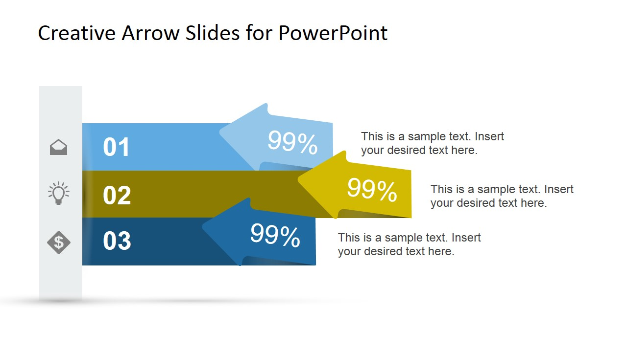 creative arrow slides template for powerpoint