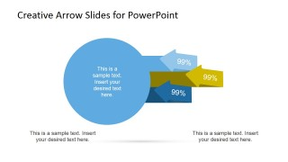 Circles Diagram with Arrows for PowerPoint 1 Step
