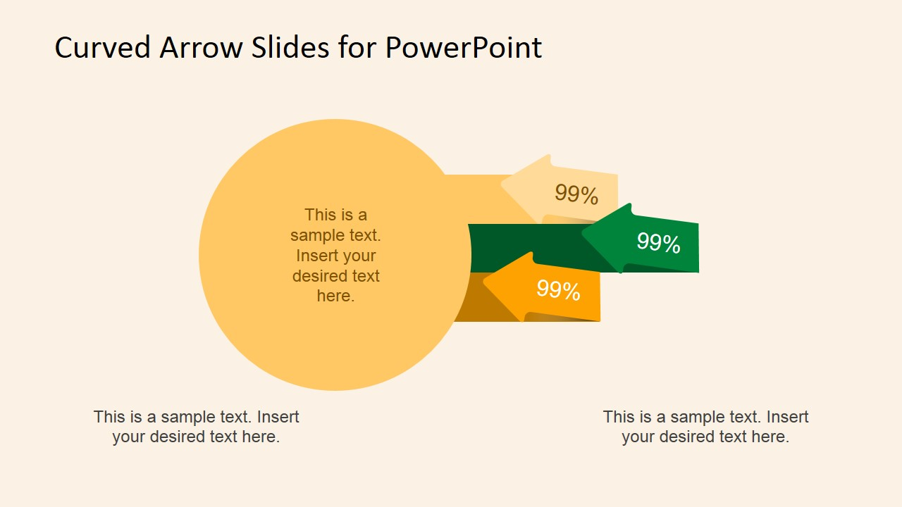 how to draw a curved arrow in powerpoint