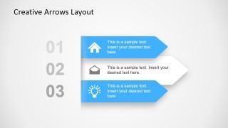 Simple 3 Step Creative Arrow Diagram Design