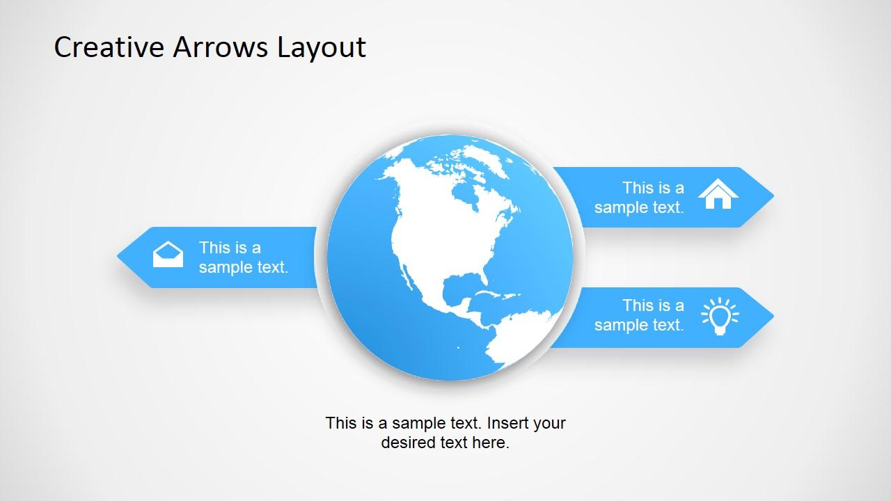 Globe Earth Business Diagram Slide for PowerPoint