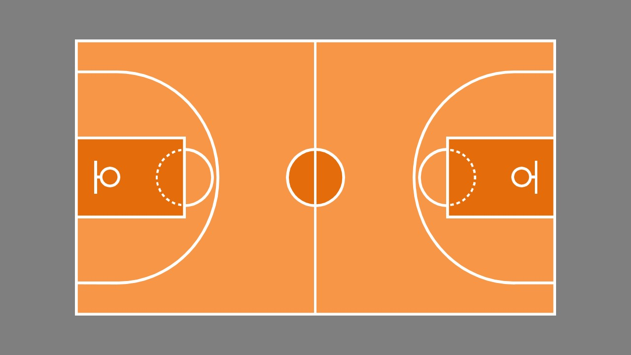 Basketball Court Game Plan Powerpoint Shapes Slidemodel