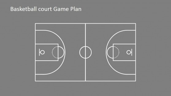 Court powerpoint templates for Basketball court plan