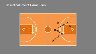 PowerPoint Template for Basketball Theme Presentation