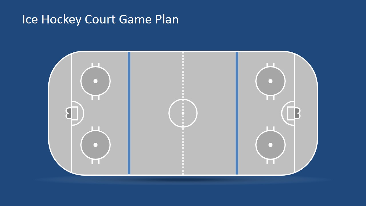 Flat Court with Goal Posts