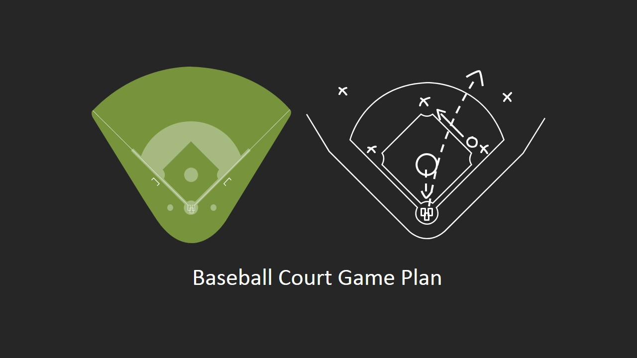 Game Strategy for Baseball PowerPoint Clipart