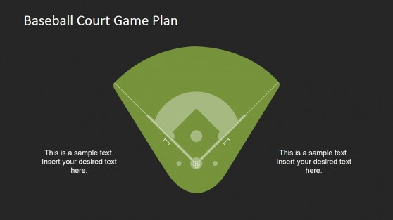 Flat Baseball Court Clipart with Placeholders