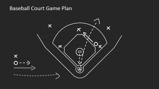 Baseball Game Strategy with PowerPoint Shapes