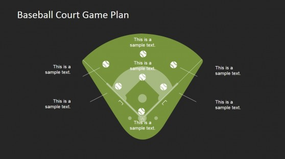 Baseball Court with Icons for PowerPoint