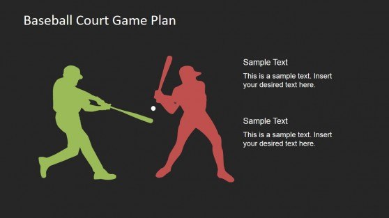 Players with Baseball Bat  PowerPoint Scene