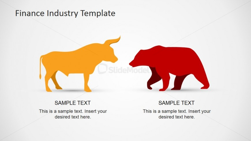 Bull and Bear PowerPoint Shapes