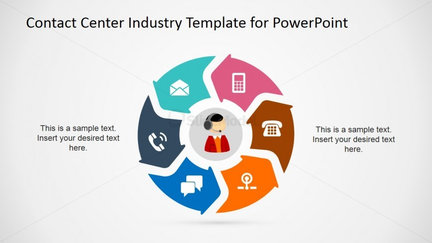 powerpoint slide for modes of communication for customer, Modern powerpoint