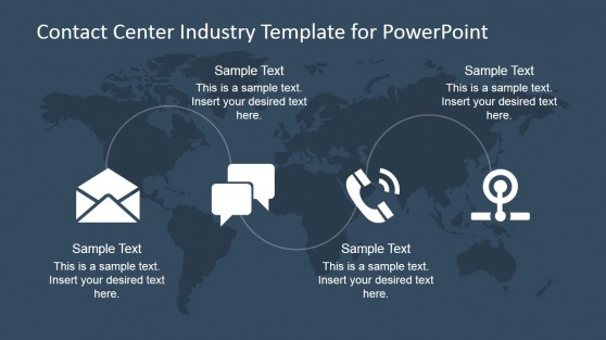 PowerPoint Template for Worldwide Technology for Business Communication
