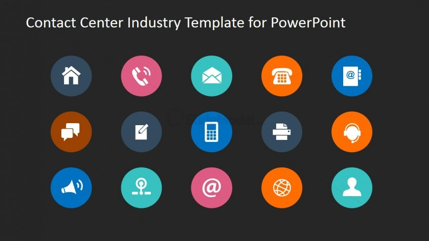 Means of Communication PowerPoint Template