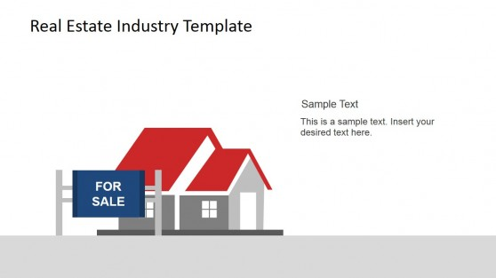 For Sale Sign and House PowerPoint Scene