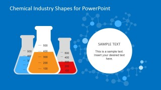 Test Tube Shapes for PowerPoint Flat Design