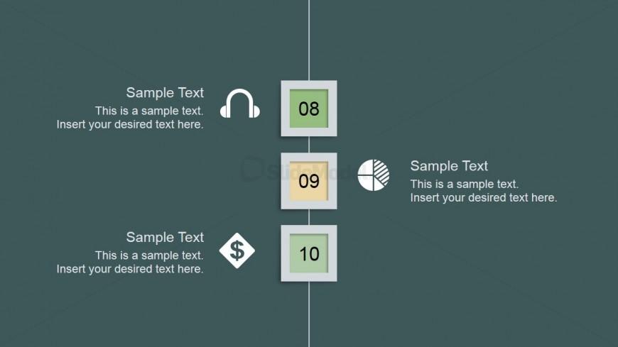Clean Professional Slide Design Steps 8 to 10