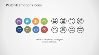 Flat PowerPoint Icons of Emotion Faces