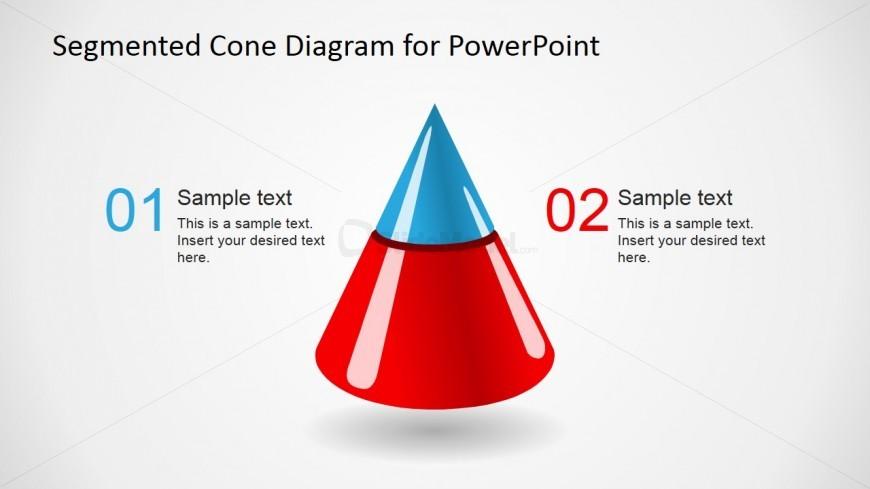 2 Level 3D Segmented Cone Diagram