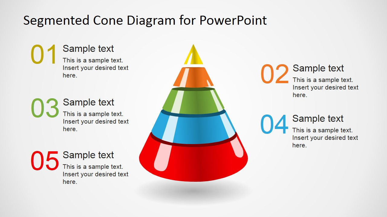 Creative Segmented 3D    Cone       Diagrams    for PowerPoint