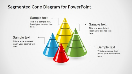 Segmented 3D Cone Graphics for PowerPoint