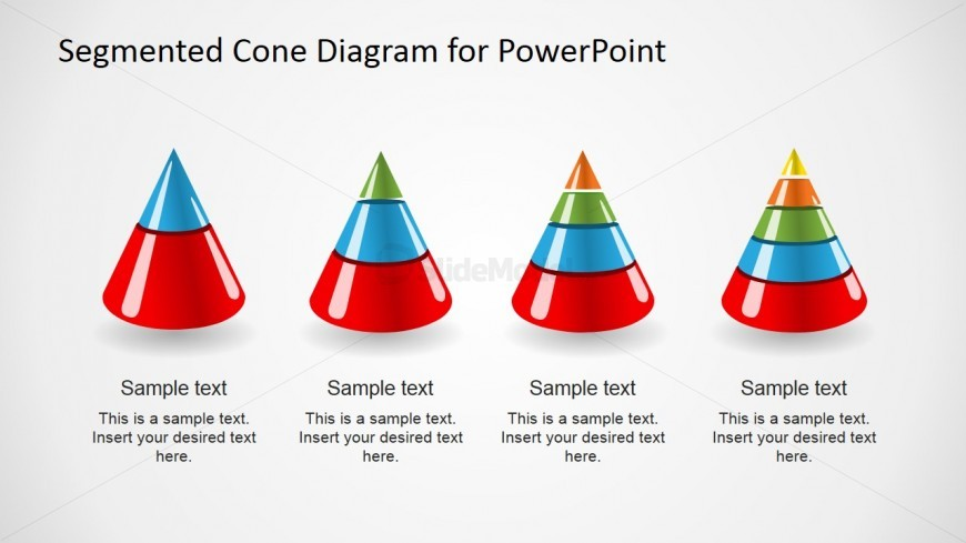 Multi-Level 3D Cone Diagrams for PowerPoint