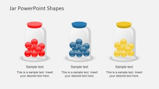 Three Jars in a Slide for PowerPoint
