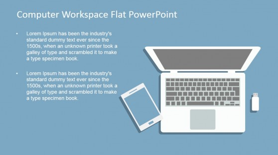 Workspace PowerPoint Template for Mobile Workspace