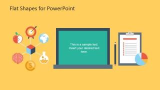 Flat Blackboard Shape for PowerPoint and Task List