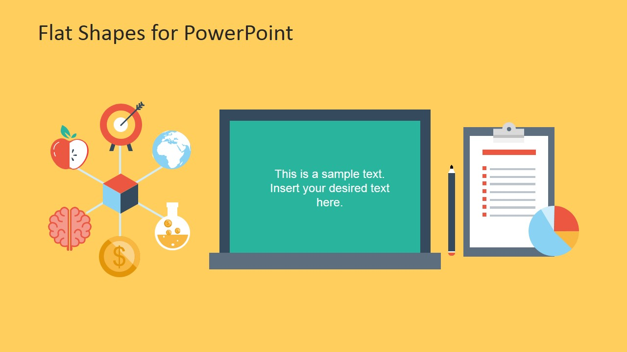 Creative Flat Shapes for PowerPoint