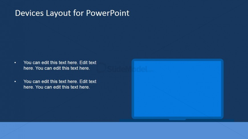 Monitor Display Shape Clipart for PowerPoint