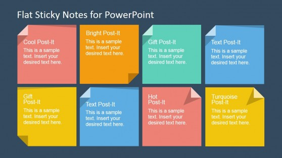 sticky note shapes for powerpoint post it templates