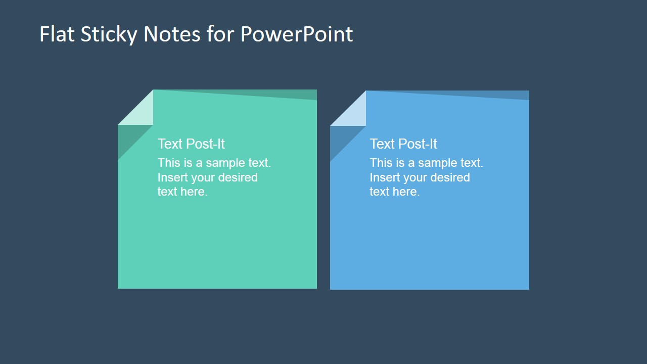 flat sticky note shapes for powerpoint