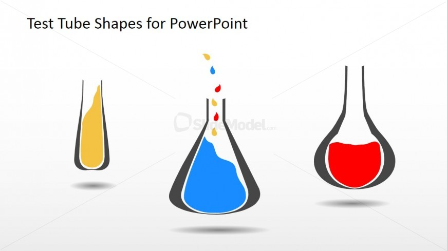 3 Colorful Test Tubes for PowerPoint