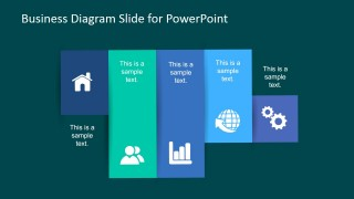 PowerPoint Diagram with Five Vertical Panels