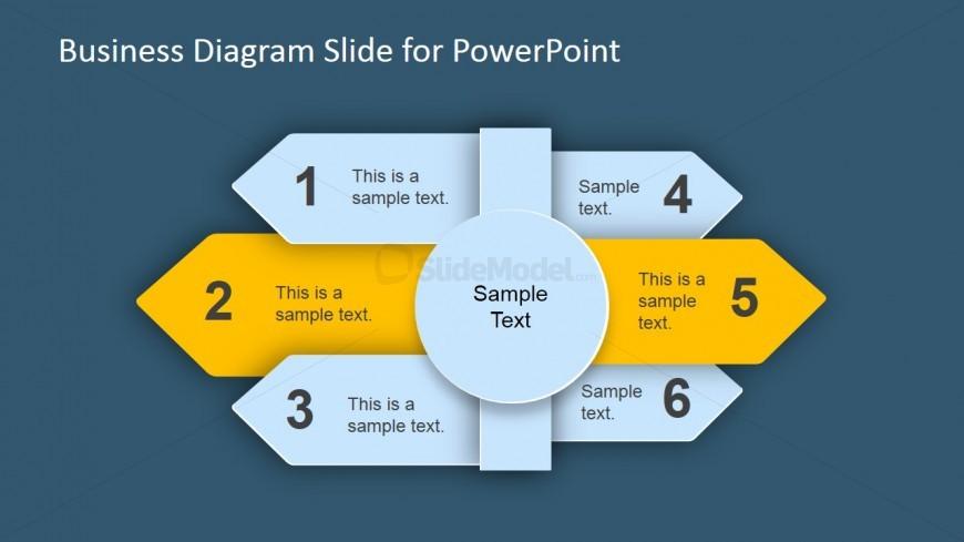 Six Step Arrow Business Diagram for PowerPoint